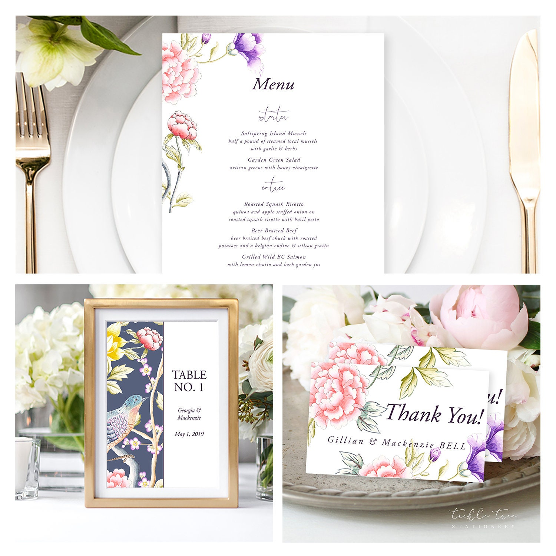 Wedding Invitations Chinoiserie Motif Style 13860