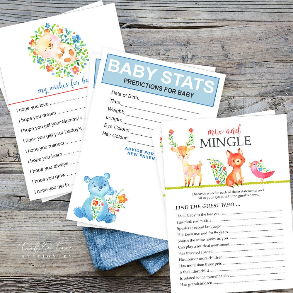 Baby Shower Game Package Have You Heard The Word Style 13742