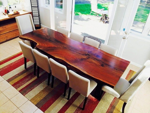 YOUR CUSTOM: Black Walnut DINING Tables and Kitchen Tables - Live Edge -  Natural - Unique