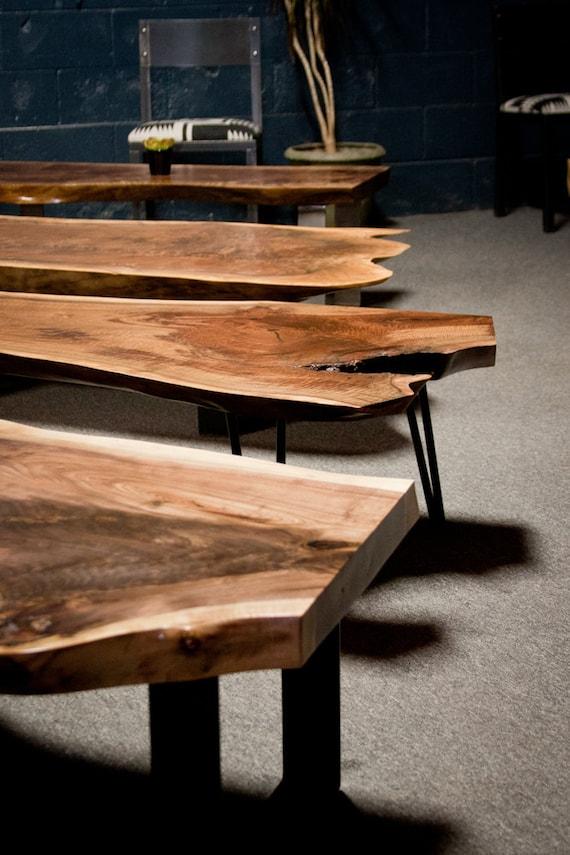 Sensational Live Edge Coffee Table Walnut Custom Built Seattle Reclaimed Rustic Wood Frankydiablos Diy Chair Ideas Frankydiabloscom