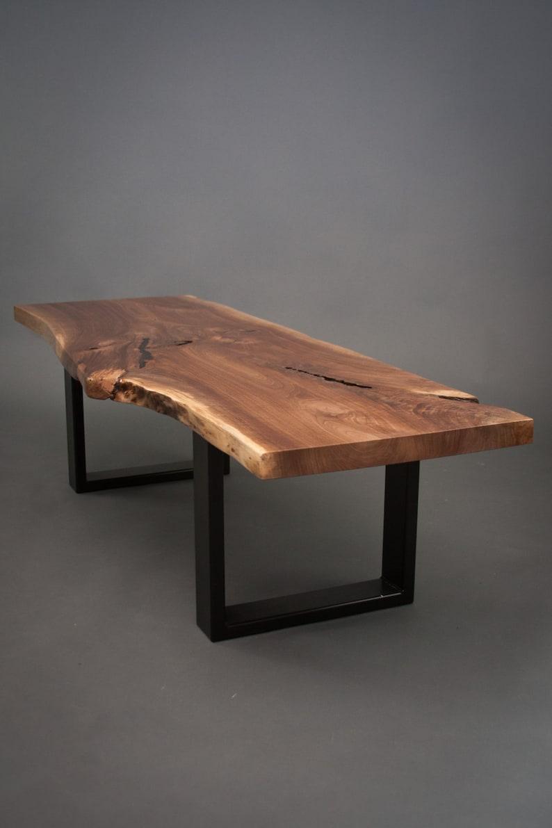 Walnut Coffee Table.Your Custom Black Walnut Coffee Table Size Medium Live Edge Slab Wood