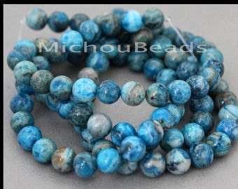 10pcs Light Blue Dyed Agate Faceted Gemstone Beads Grade B B34147