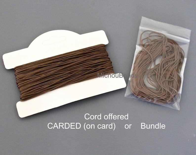 0.5mm Braided Polyester Cord 5 Yards CINNAMON BROWN Silk Chinese Knot Shamballa Macrame DIY Knotting Beading String Thread Cording 0.4 mm