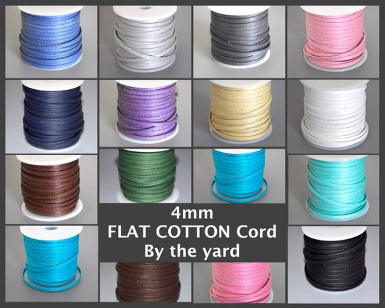 For Diy Wrap Beading Bracelets 5 Feet LAVENDER 4x1mm Wax Cotton Cord Polished Strong Lightly Waxed Cotton 4mm FLAT COTTON Cord