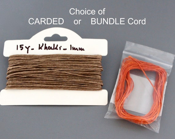 10m = 10 x 1m length from 2-4mm COTTON WAX Cord Jewellery twine thread beads