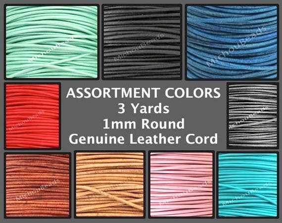 many colour shades  Thickness 1.5mm 2mm 100/% Real LEATHER cord  Rounded