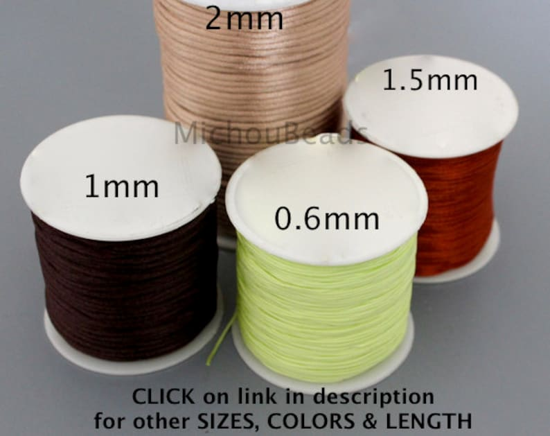 0.8mm Braided NYLON Cord 15 Yards DARK EMERALD Green Nylon Silk Chinese Knot Shamballa Macrame Knotting Beading String Thread 0.8 mm