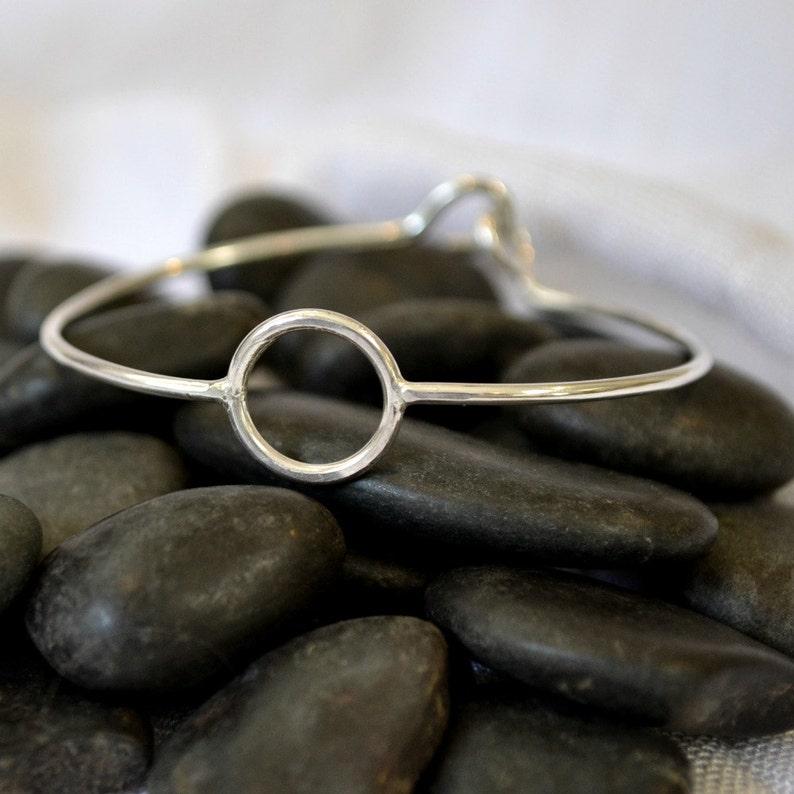 Sterling silver bracelet.  Hug Bracelet.  size small or made image 0
