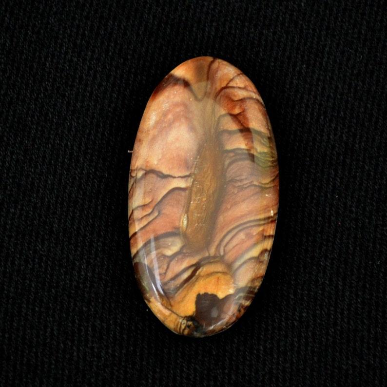 Biggs jasper designer oval cabochon.  20 X 40. image 0