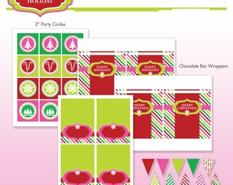 Nutcracker christmas holiday party printables diy printable christmas holiday party printables diy printable package sugar coated holiday mini party do it yourself print kit instant download solutioingenieria Image collections