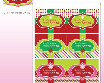 Nutcracker christmas holiday party printables diy printable printable santa gift tags customized with name personalized diy printable package sugar coated holiday do it yourself print kit solutioingenieria Image collections