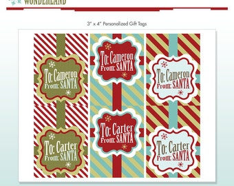 Nutcracker christmas holiday party printables diy printable santa gift tags customized with name personalized diy printable package vintage winter wonderland do it yourself print kit solutioingenieria Image collections