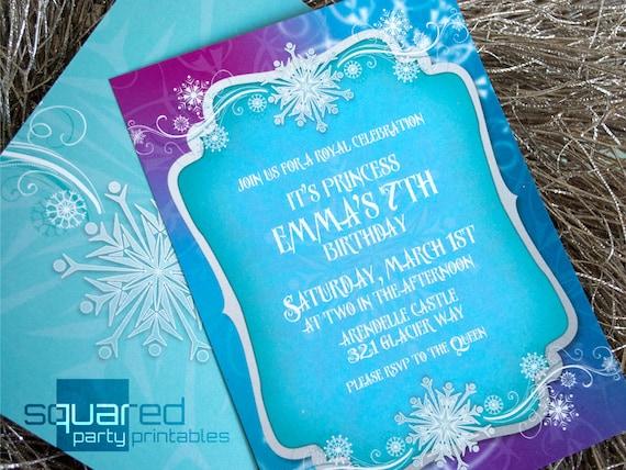 Diy Frozen Invites