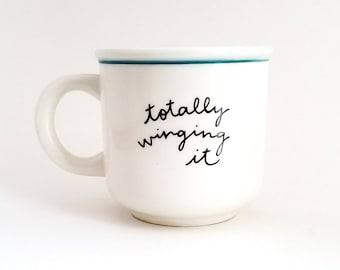 Parent Mug | Teacher Mug | Student Mug | Large Mug | Upcycled Mug | Funny Mug | Quote Mug | Ceramic Coffee Tea Mug | Father's Day Gift