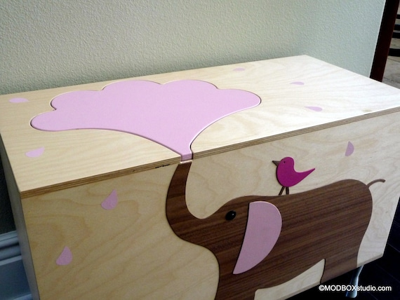 Carnival Toy Box Pink: Items Similar To Toy Box Storage Chest Trunk, Elephant
