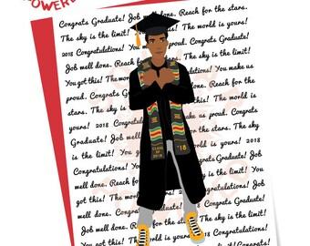 Wholesale African-American Graduation Card