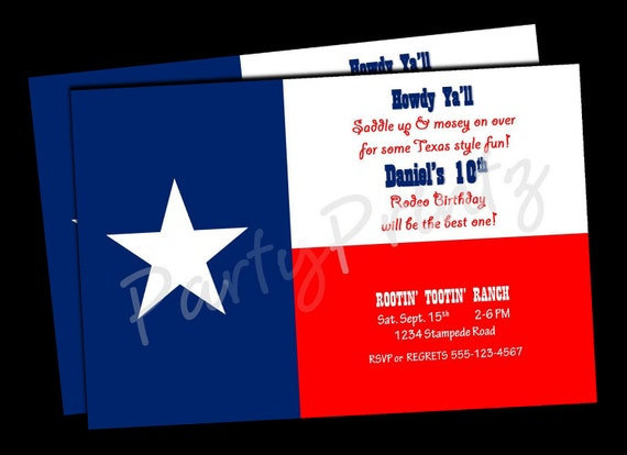 picture relating to Texas Flag Printable identified as Printable Texas Rodeo Birthday - Cowboy - Cowgirl - Texas