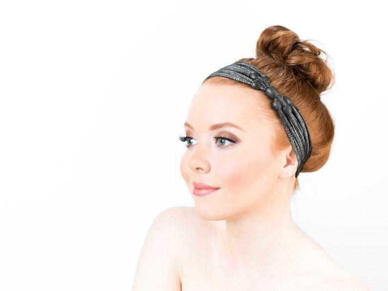 Beaded Headbands For Women Boho Flapper Headpiece Fancy Wide image 0