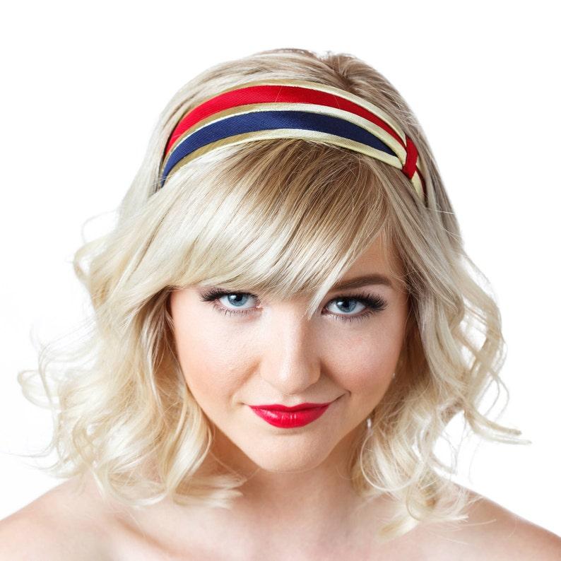 Cute Flapper Style Headband 1920s Inspired Headpieces Wide  5a1dd7a9e1b
