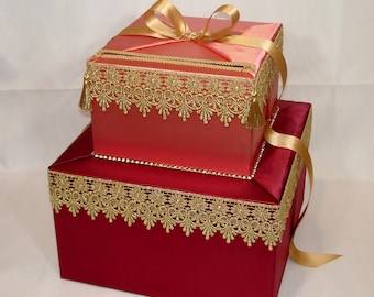 Moroccan / Indian themed Card box-any colors