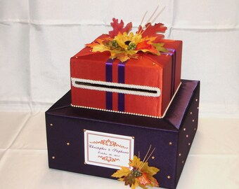 Elegant Custom Made Weeding Card Box-FALL theme