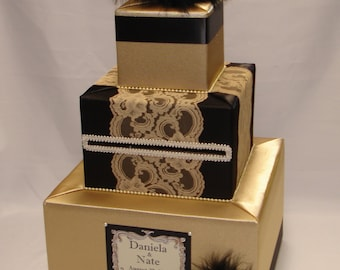 Gatsby themed Wedding Card Box-any colors