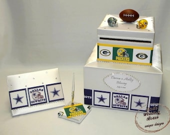 Sport theme Card Box and matching Guest Book and Pen-any sport team