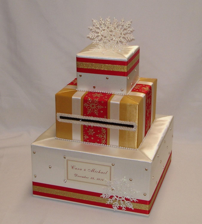 Winter Snowflakes-Christmas theme Wedding Card Box any | Etsy