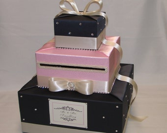 Elegant Custom Made Wedding Card Box -any colors