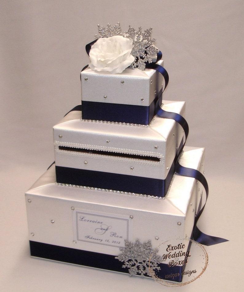 Winter Wonderland  White and Navy Blue-Snowflakes theme image 1