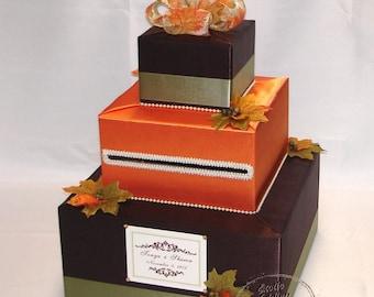 Fall/Autumn theme Wedding Card Box-Fal leaves-any colors