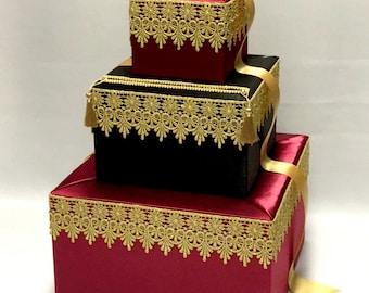 Moroccan Theme Wedding Card Box-any colors