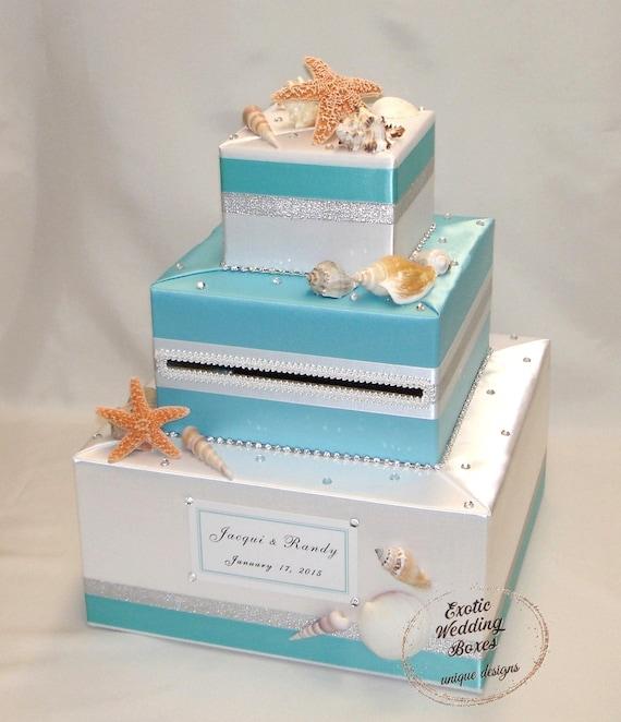 Beach Ocean Seashells Theme Wedding Card Box Any Colors Etsy