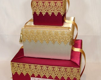 Indian Wedding /Moroccan themed Card Box -any colors