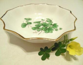 Vintage Lucky Shamrock Hammersley Bone China Mini Nut Bowl 50's (item 3)