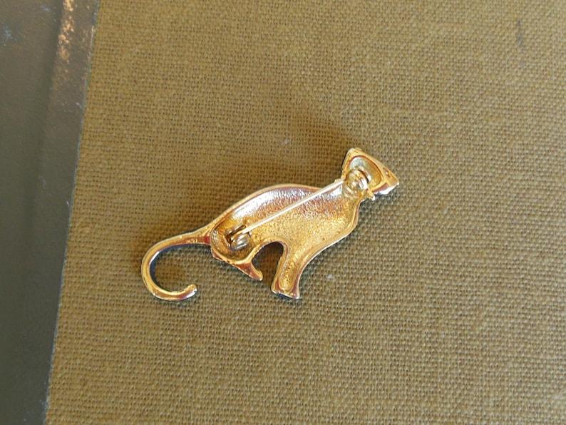 Vintage Black Cat Enamel Brooch Gold 60/'s item 215
