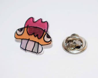 Toothed Skull shrink plastic pin