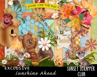 Sunshine Ahead Digitale Scrapbooking Suppliesby Digidesignresort