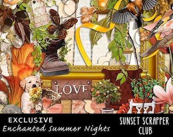 Enchanted Summer Nights Digitale Scrapbooking by Digidesignresort