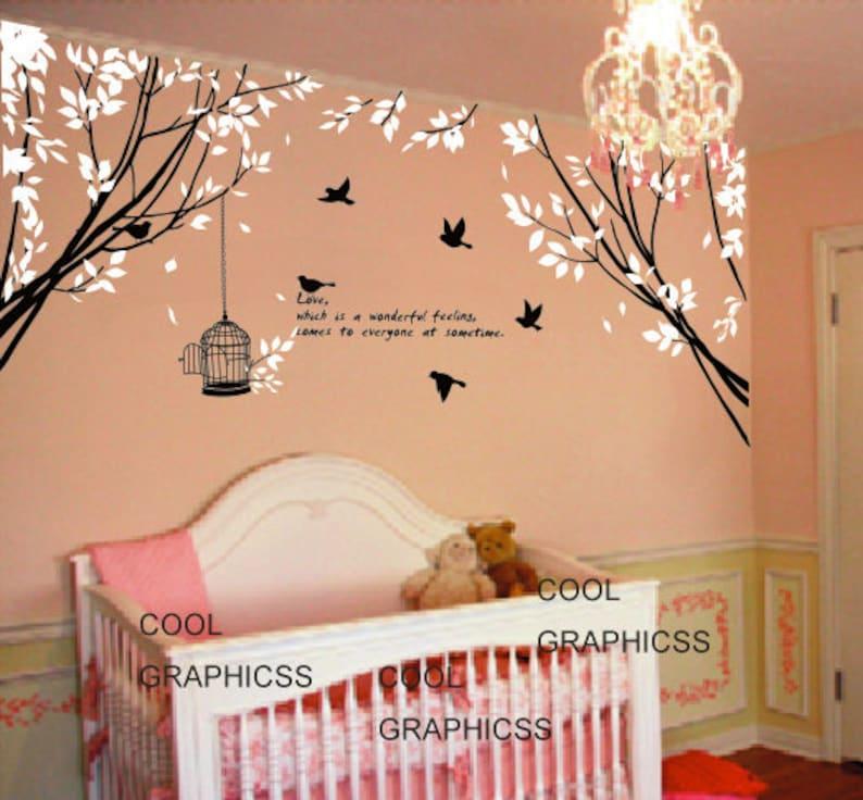 vinyl wall decals trees wall sticker baby nursery children   etsy