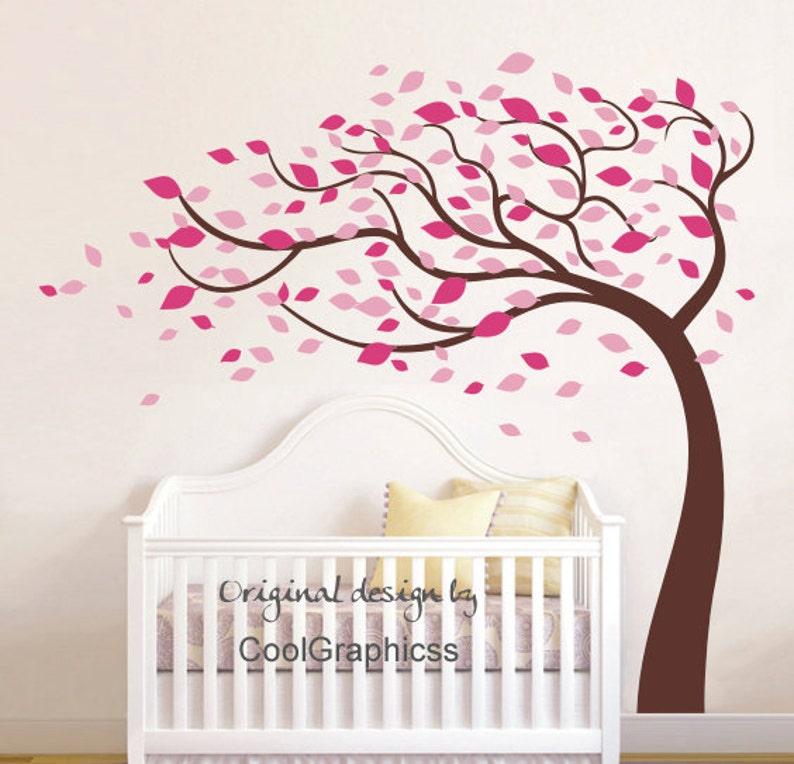Baum Mit Blumen Vinyl Wall Decal Aufkleber Baby Kinderzimmer