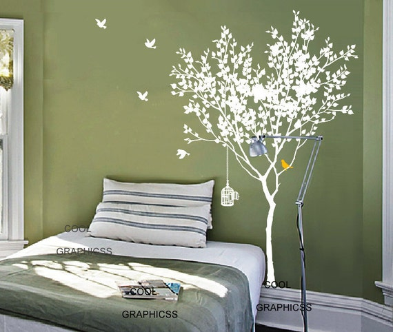 Love Tree 73 Inches Tall Vinyl Wall Decal Sticker Art Etsy