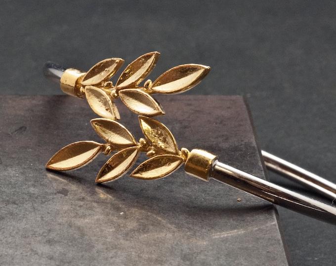Featured listing image: Gold Leaves Bracelet, Goddess Athena Greek Jewelry