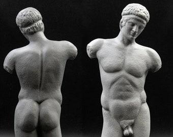 Nude Male Youth, Body Torso Statue, Ancient Greek Art, Museum Replica, Greek Decor, Nude Art Sculpture, Greek God