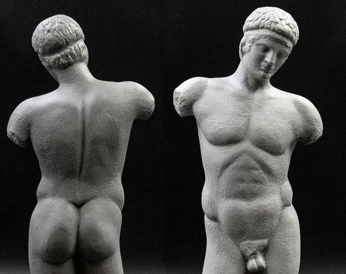Featured listing image: Nude Male Body Torso Youth Statue, Ancient Greek Art, Museum Replica, Greek Decor, Nude Art Sculpture, Greek God, Home Decor
