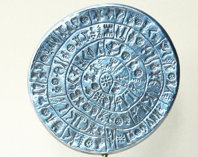 Featured listing image: Minoan Crete Phaistos Disc in Aluminium