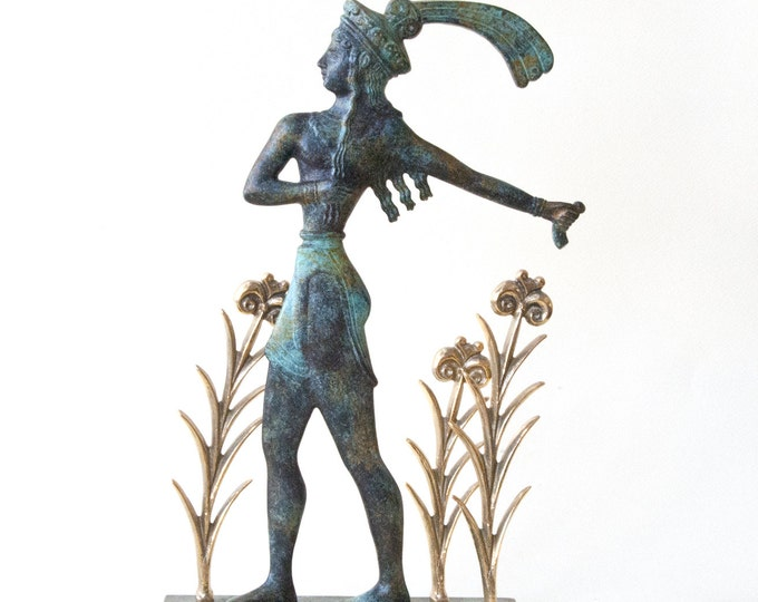 Featured listing image: Knossos Prince of the Lilies, Cretan Minoan Bronze Sculpture