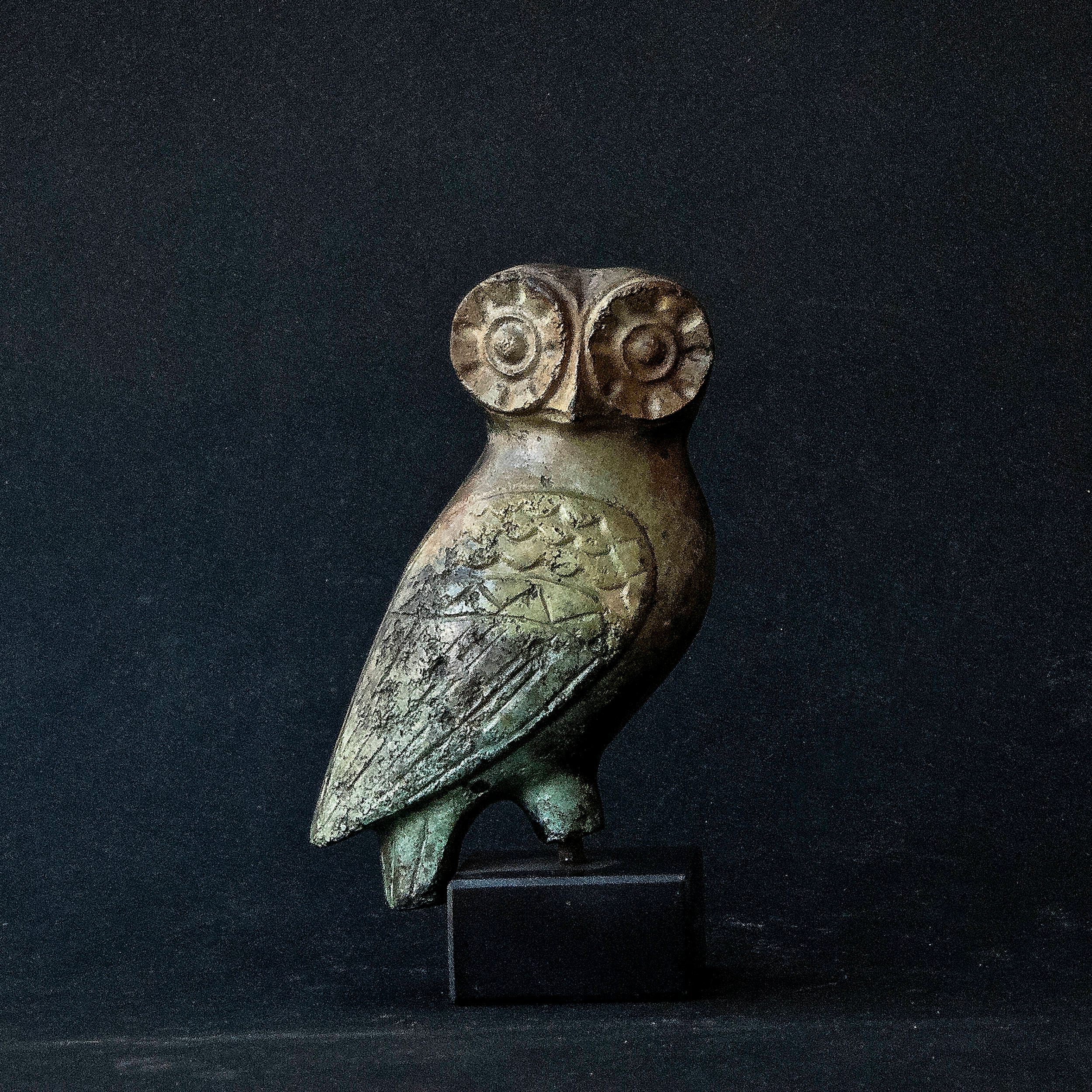 Greek Antiques Owl Symbol Of Athena Goddess Of Wisdom