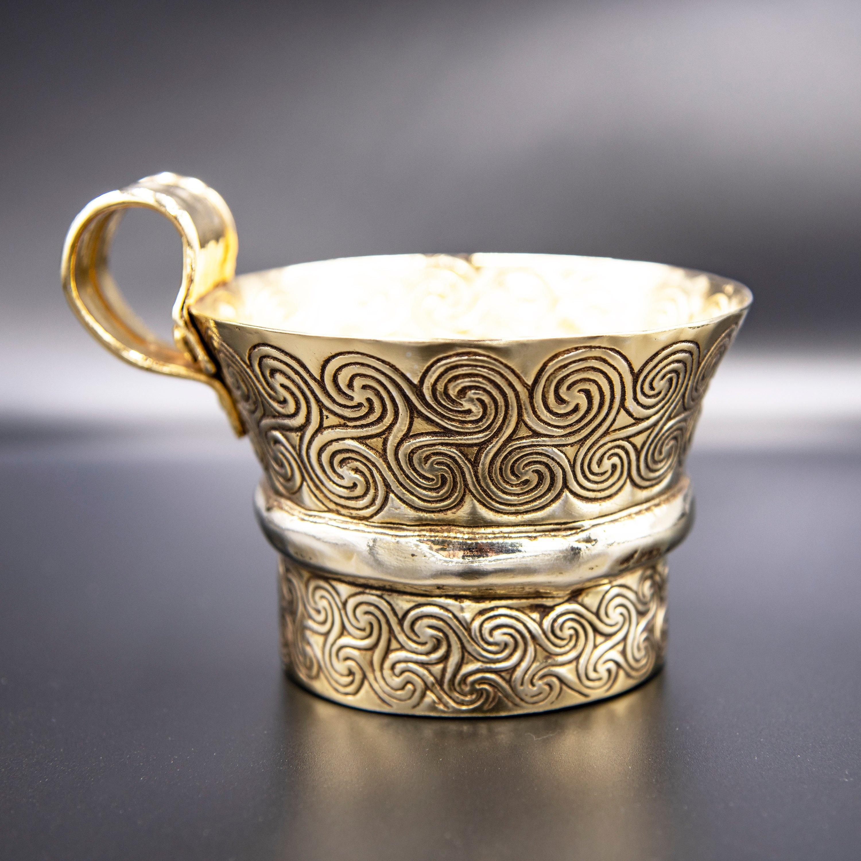 Gold Cup Ancient Greek Mycenaean Artifact, Copper Gold