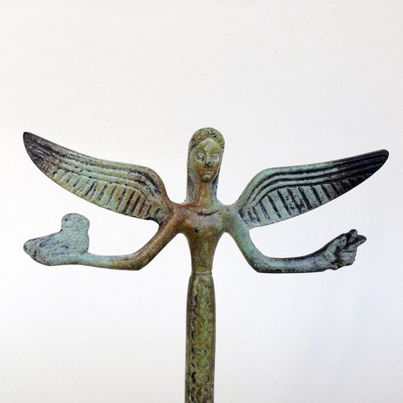 Victory Statue Greek Nike Bronze Sculpture Metal Art Etsy